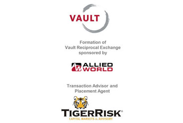 Allied World Sponsors Formation of Vault Reciprocal Exchange