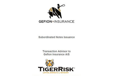 Gefion Insurance A/S €10 million Subordinated Notes Issuance