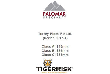 Palomar Specialty Insurance Closes Torrey Pines Re Ltd.