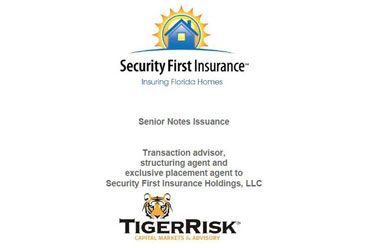 Security First Insurance Holdings $60,000,000 Senior Notes Issuance