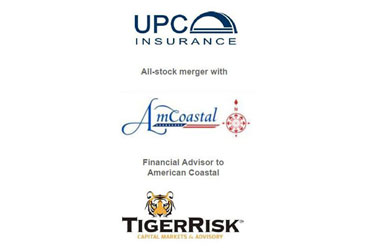 UPC Insurance Announces All Stock Merger With American Coastal