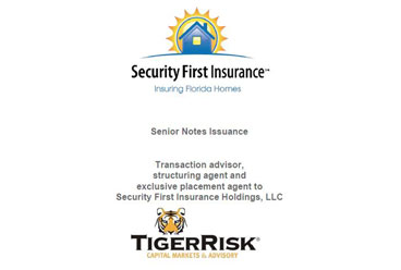 Security First Insurance Holdings $75,000,000 Senior Notes Issuance