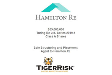 Hamilton Re Sponsors Turing Re Ltd. 2019-1 Class A Shares