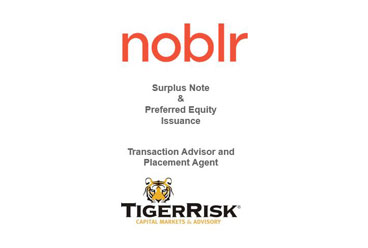 Noblr Reciprocal Exchange Surplus Note and Noblr, Inc. Preferred Equity Issuance