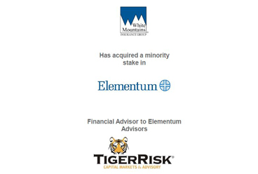 Elementum Has Sold a Minority Stake to White Mountains