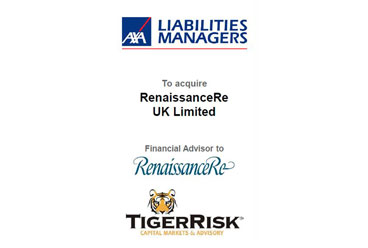 AXA Liabilities Managers to Acquire RenaissanceRe (UK) Limited