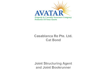 Avatar P&C Sponsors Casablanca Re Pte. Ltd. Series 2020-1 Notes