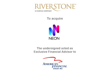 RiverStone Holdings Limited to Acquire Neon from AFG