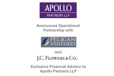 Apollo Announces Partnership with Pelican Ventures and J.C. Flowers