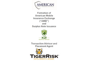 K2 Insurance Services Sponsors AMIE Reciprocal Exchange
