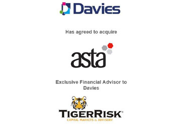 """Davies Group Limited (""""Davies"""") has agreed to acquire Asta Capital Limited"""